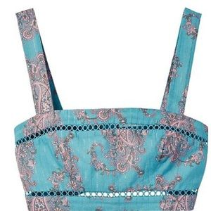 NWT Zimmermann Realm Paisely Crop Top frm Intermix